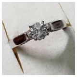 14K  Diamond(0.55ct) Diamond(0.25ct) Ring