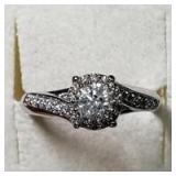 14K  Diamond(0.4ct) Diamond(0.2ct) Ring