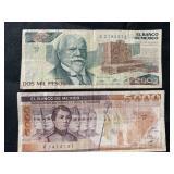 Mexico: $ 5,000 and 2000 DOS MIL PESOS