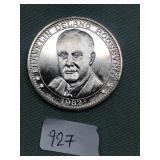 1982 Franklin Delano Roosevelt coin