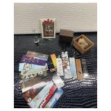 Lot of Bookmarks and note stand with wooden boxes