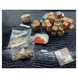 Sardine can puzzle, learning blocks, wooden