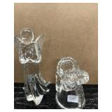 Lot of Two Glass Figurines