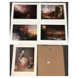 Lot of Five Art Prints