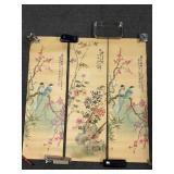 Three Oriental Bird Lithographs