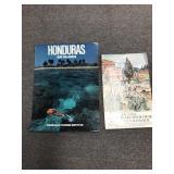 Lot of Two Vintage Posters  Honduras Bay Islands