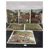Six Prints by J. A. Valasquez Honduras Circa 1962
