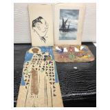 Four Pieces of Artwork Including