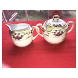 Vintage Cream Sugar Handpainted Nippon Japan
