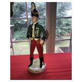 Vintage Italy Irish Mist Decanter Empty Soldier