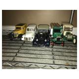 Lot 5 Old School Trucks  and Coin saver