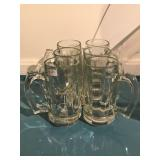 Lot 4 Clear Glass Cup