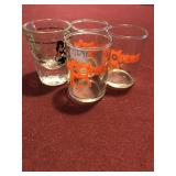 Lot 4 Shot Glasses