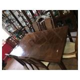 DINING ROOM TABLE AND 6 CHAIRS EXPANDABLE WITH
