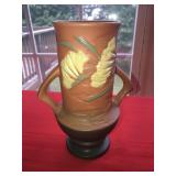 ROSEVILLE POTTERY Brown Handled Vase  Genuine