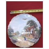 SPODE CHINA HANDPAINTED PLATE FARM CHICKENS