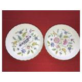 Pair Minton Pin Dishes Flowers