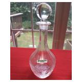Clear Glass Decanter with Stopper