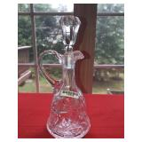 Clear Glass Cruet with Stopper Vintage