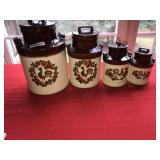 Lot 4 McCoy Pottery Canisters