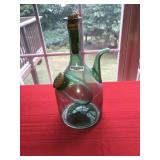 Vintage Wine Bottle Green Glass with Ice Container