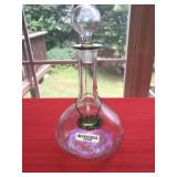 Large Crystal Decanter with Stopper Sterling