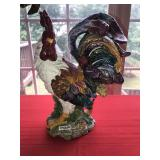 Large Vintage Ceramic Rooster Unmarked