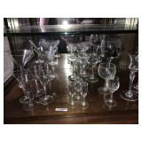 Large Lot Crystal Glass Sets Mixed