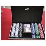 Poker Chip Steel Metal Case Chips and Cards