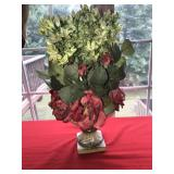 Beautiful Lush Flowers and Greenery in Vase