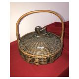Antique Large Hand Woven Basket with