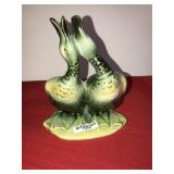 Vintage Hull Figurine 2 Ducks Green
