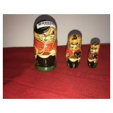 Russian Matryoshka Nesting Dolls 3 Dolls Made in