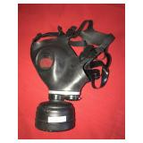 Gas Mask Black Leather
