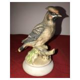 Figure Porcelain Lefton Bohemian WaxWing Bird