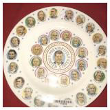 Presidents of the United States Collectible Plate
