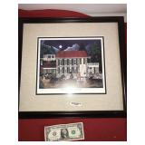 Framed Signed Numbered H.J. Smith 1997 Dinner at