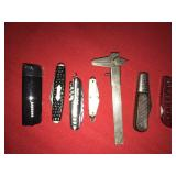 Lot 7 Pocket Knife Knives and Other items