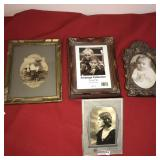 Lot 4 Pictures Vintage and Frames