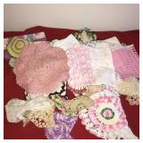Large Lot Handmade Doliy Handkerchiefs etc