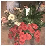 Large Lot Silk Flowers and Greenery