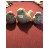 Lot 3 Ceramic Birds