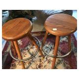 Lot 2 Brown Sitting Stool