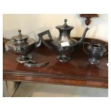 Silverplate Tea Coffee Set Antique