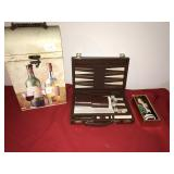 Backgammon Wine Box Santa