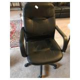 Ergonomic Desk Chair Black Leather