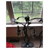 Decorative Wrought Iron Wine Holder with Grape
