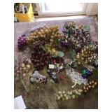 Huge Lot Artificial Grape Bunches Plastic Stone