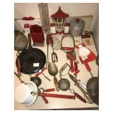 Huge lot ANTIQUE Vintage Kitchen Utensils