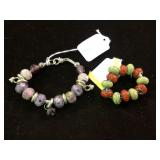 BEADED BRACELET AND .925 BEAD PARTS